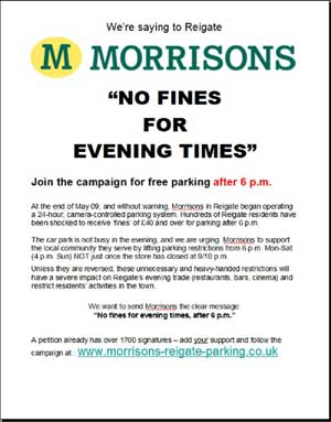 Morrisions - No Fines for Evening Times poster for download