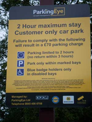 Parking Eye's warning signs - see their website